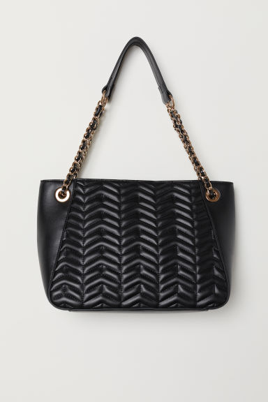 Quilted handbag - Black - Ladies | H&M CN