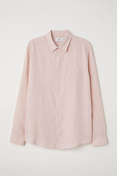 Linen shirt - Light pink -  | H&M CN