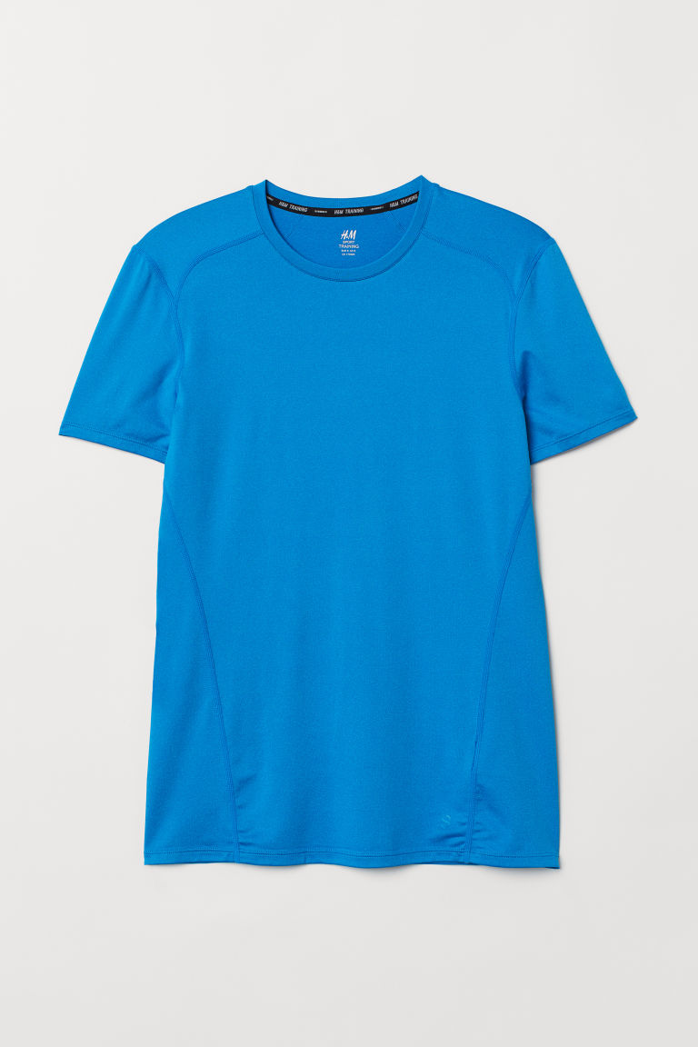 Short-sleeved sports top - Blue marl - Men | H&M CN