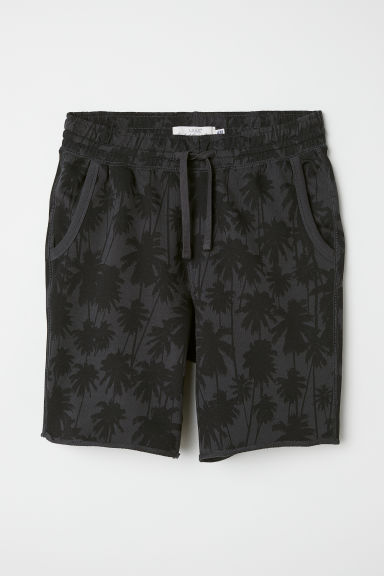 Knee-length sweatshirt shorts - Black - Men | H&M