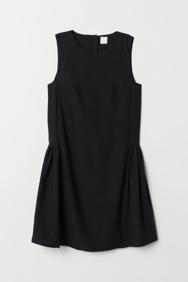 Lyocell-blend dress - Black - Ladies | H&M CN