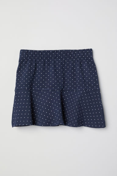 Cotton skirt - Dark blue/Spotted - Kids | H&M