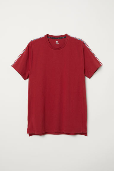Sportief T-shirt - Rood - HEREN | H&M BE