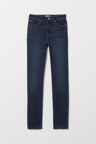 Skinny High Jeans - Blu denim scuro - DONNA | H&M IT