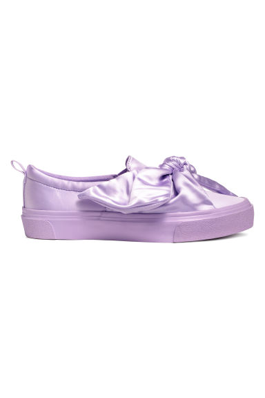 Trainers with a bow - Purple - Ladies | H&M CN