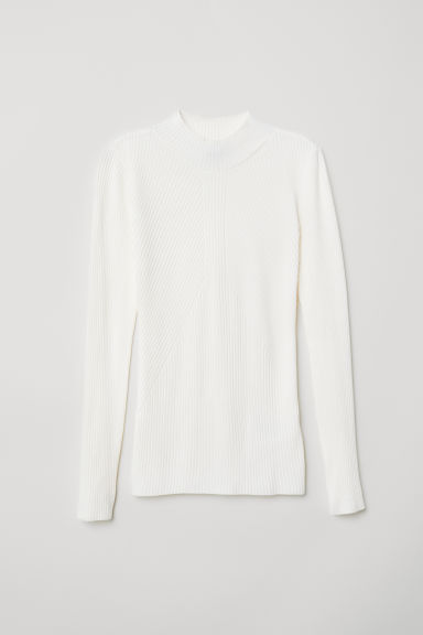 Knitted jumper - Natural white - Ladies | H&M CN