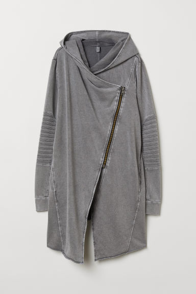 H&M+ Hooded cardigan - Grey - Ladies | H&M GB
