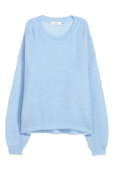 Loose-knit jumper - Light blue -  | H&M