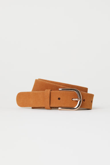 Suede belt - Brown - Ladies | H&M CN