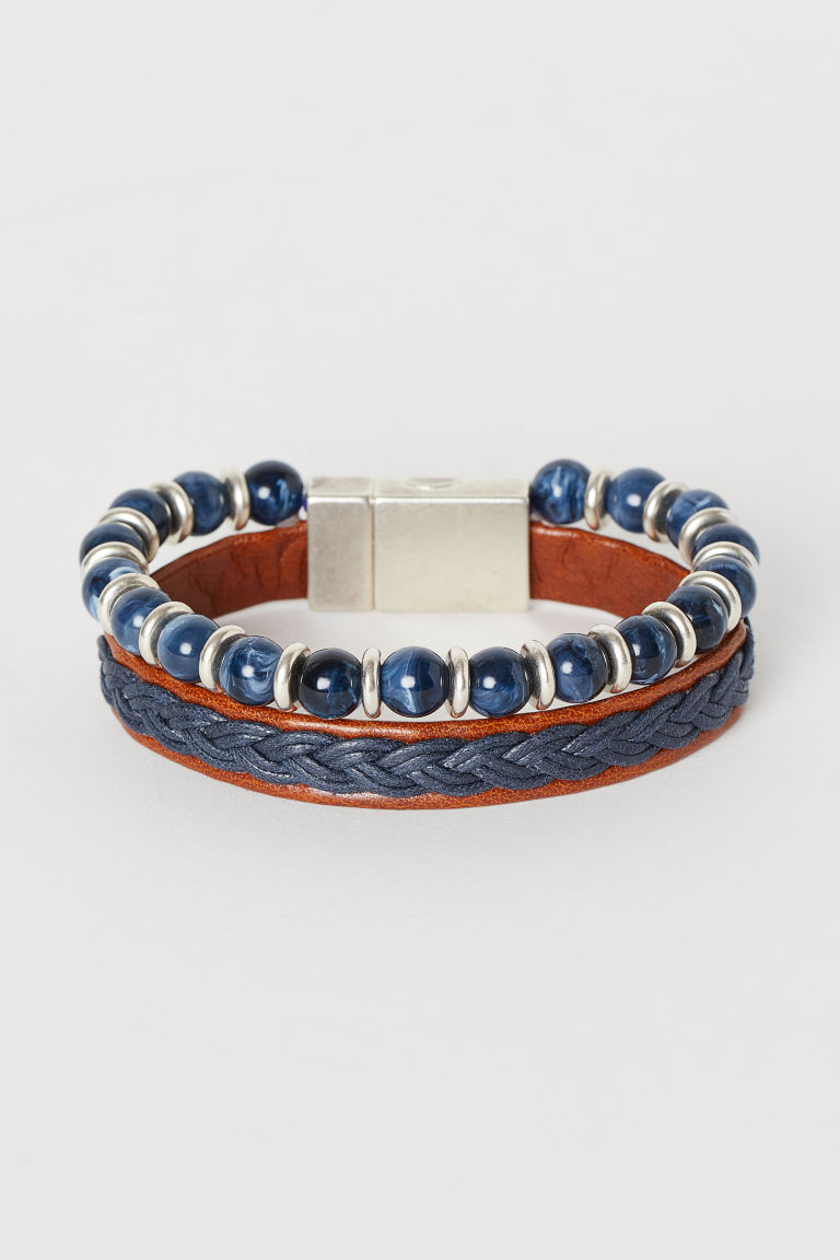 Multi-strand Bracelet - Dark blue - Men | H&M CA