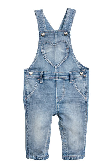 Denim dungarees - Denim blue -  | H&M CN