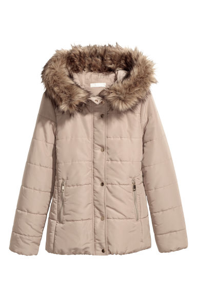 Padded jacket - Beige - Ladies | H&M GB
