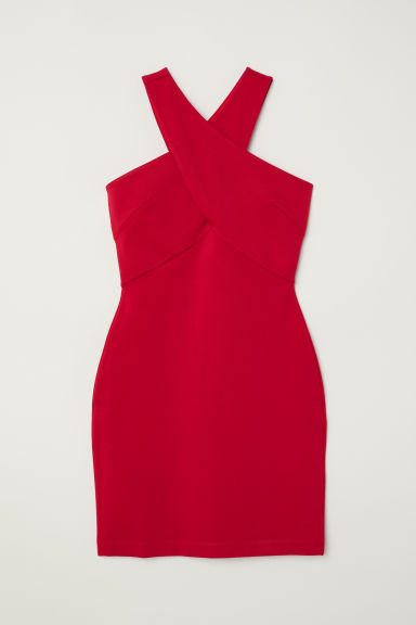 Short jersey dress - Red -  | H&M CN