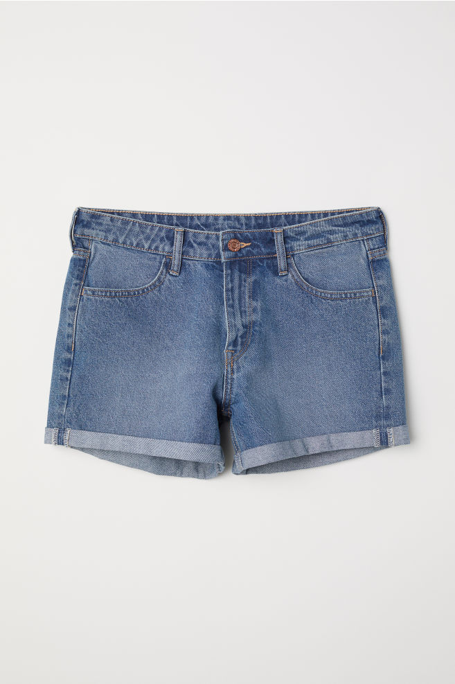 4fe4d15cf Denim Shorts - Denim blue - | H&M ...