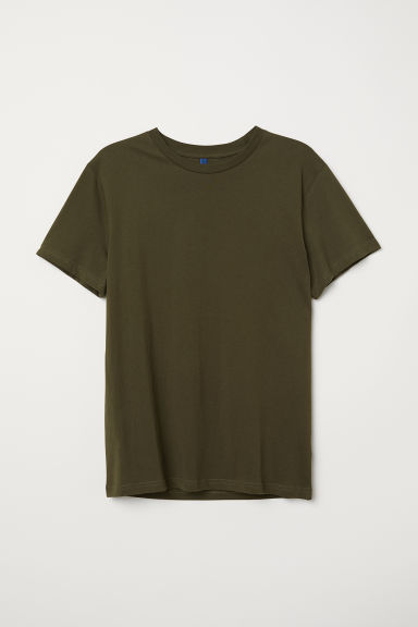 T-shirt - Dark khaki green - Men | H&M