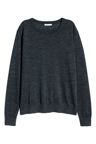 Knitted wool jumper - Dark grey marl - Ladies | H&M CN