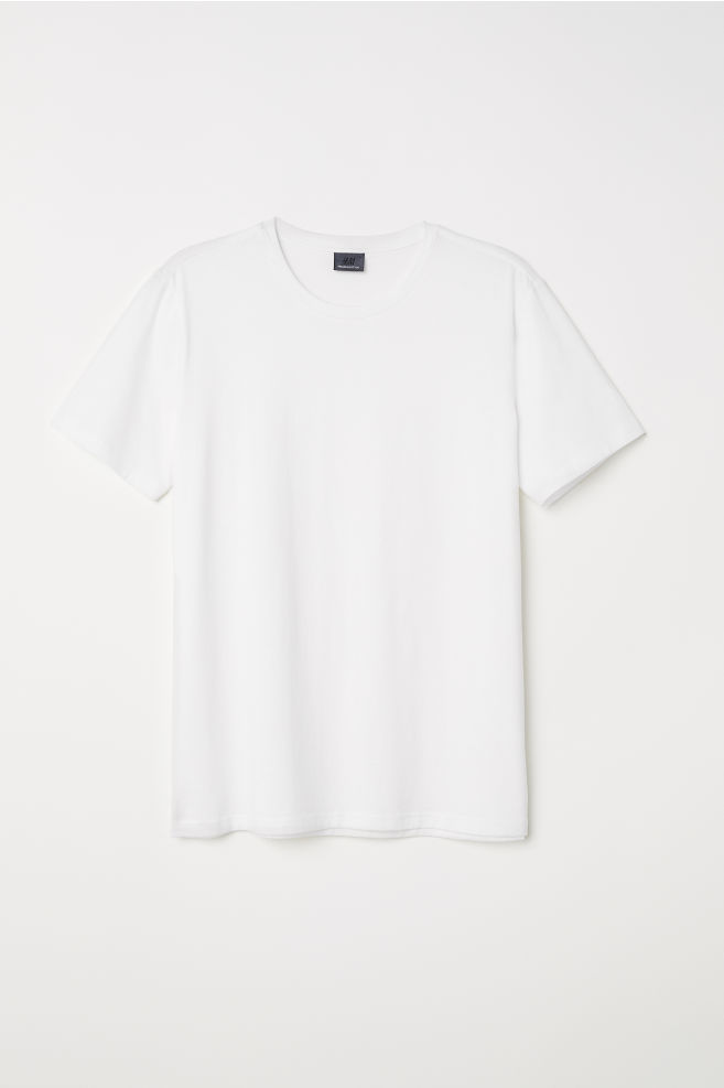 297cd53d203f Premium cotton T-shirt - White - Men | H&M ...