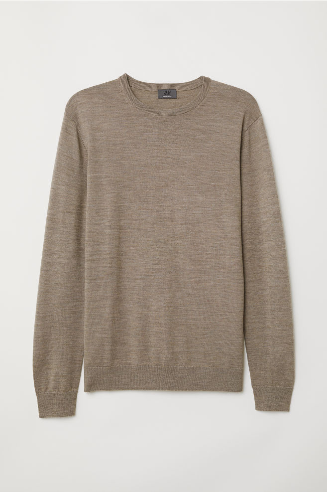 b700fe6b937b Merino Wool Sweater - Beige melange - Men