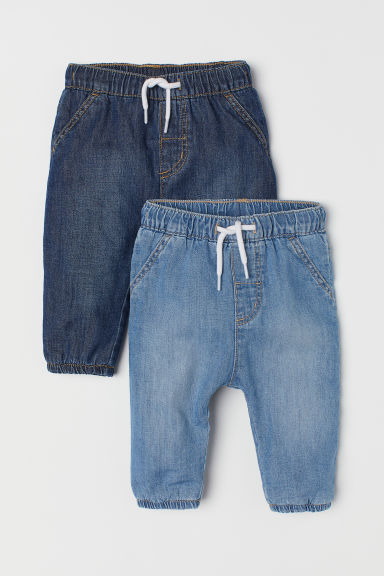 Joggers in denim, 2 pz - Blu denim ch./blu denim scuro - BAMBINO | H&M IT