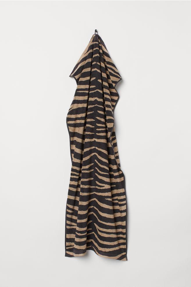 Zebra-patterned bath towel - Anthracite grey Zebra print - Home All ... bd1a76f71