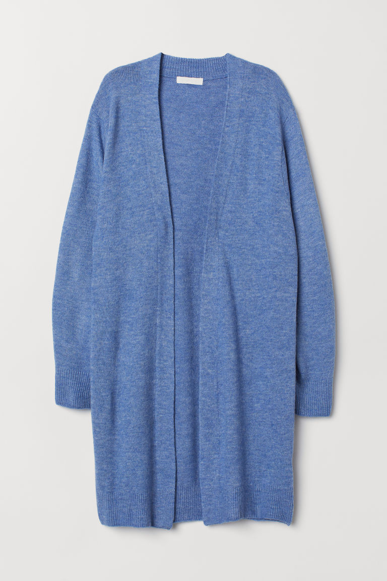 Long cardigan - Blue marl - Ladies | H&M CN