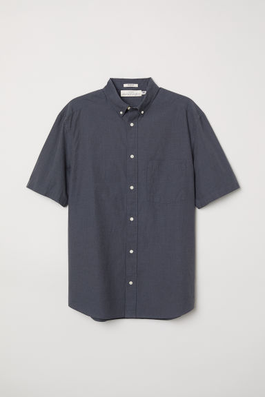 Poplin shirt Regular fit - Dark grey - Men | H&M CN