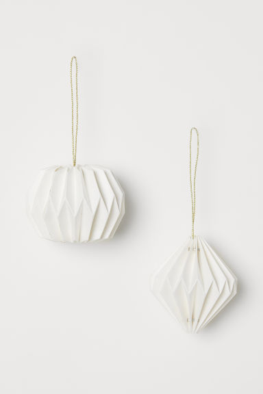 2-pack Christmas tree baubles - White - Home All | H&M CN