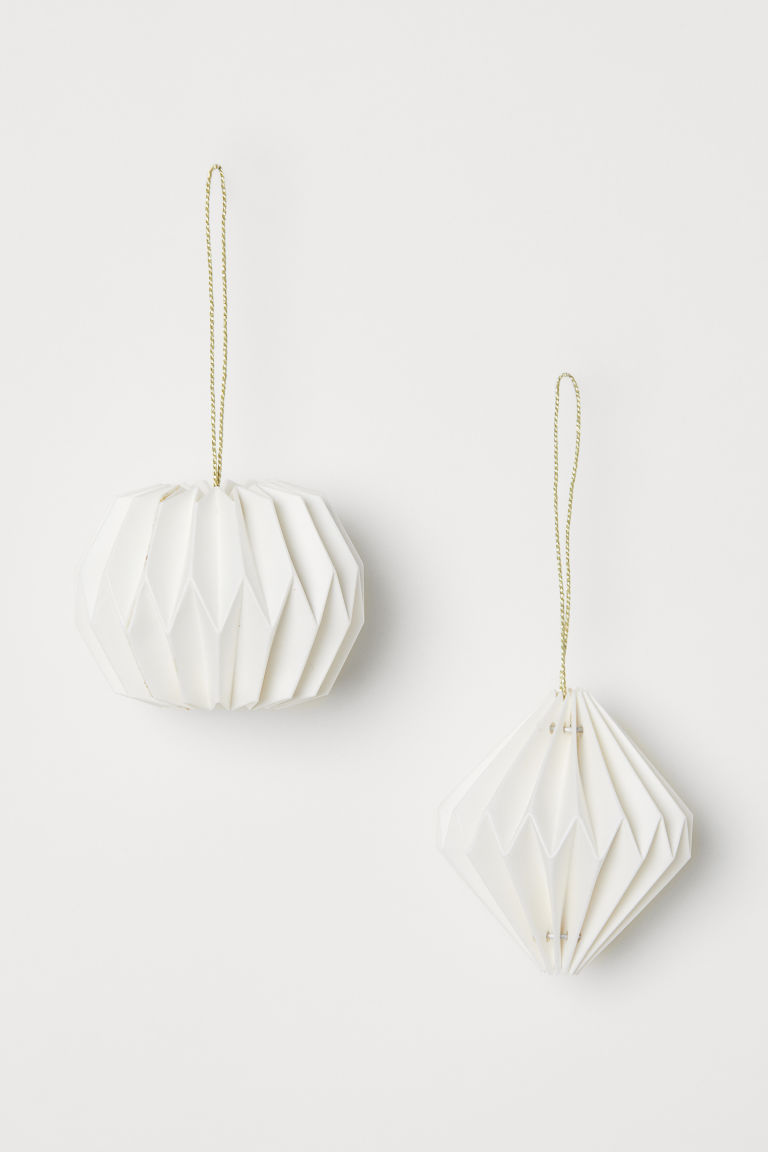 2-pack Christmas tree baubles - White - Home All | H&M 1
