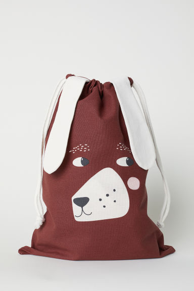 Drawstring storage bag - Brown/Dachshund - Home All | H&M CN