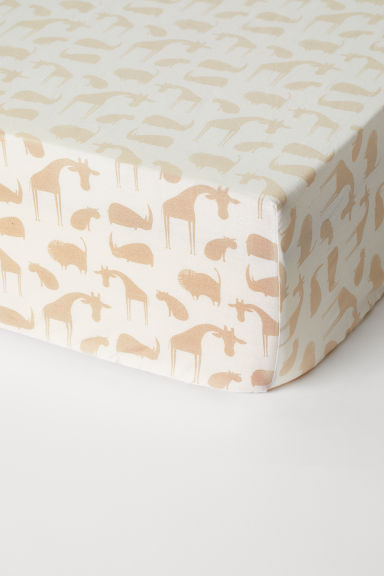 Drap-housse - Beige clair/animaux - Home All | H&M CA