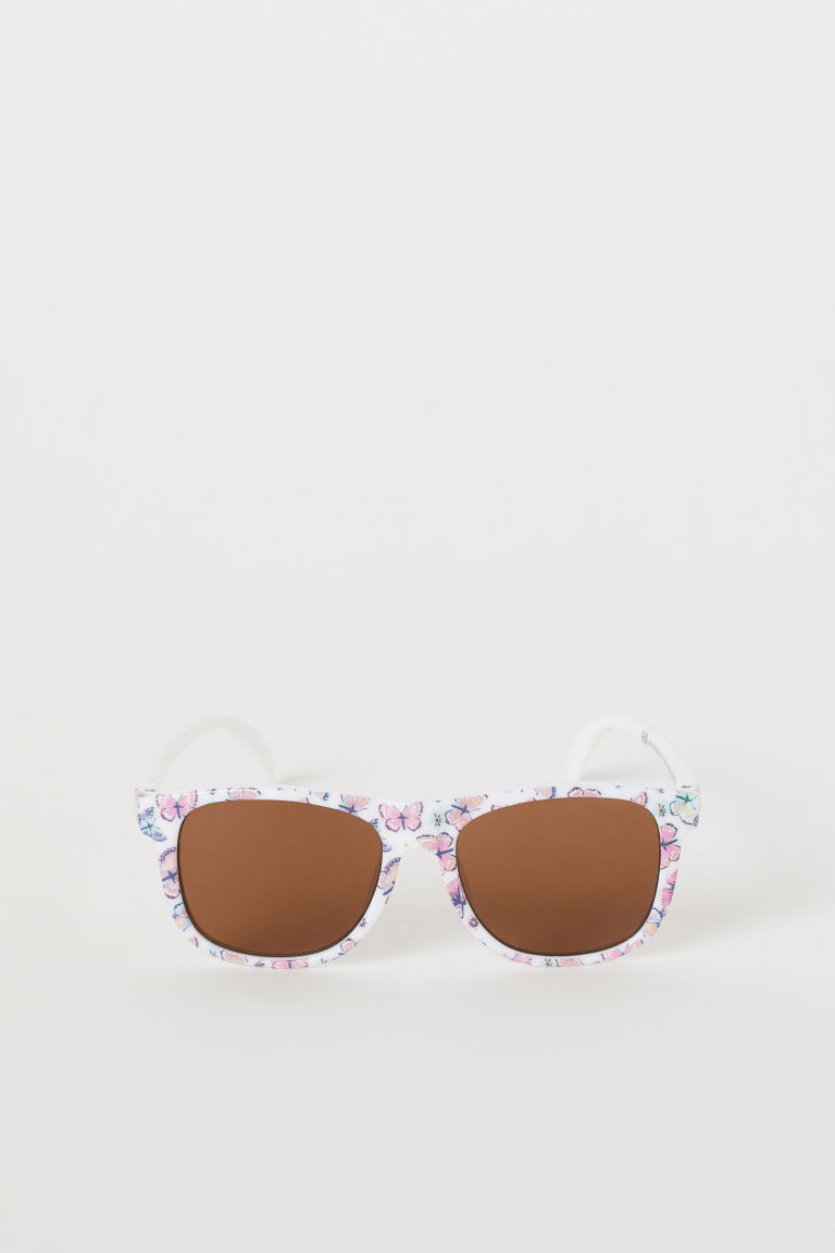 Sunglasses - White/butterflies - Kids | H&M US