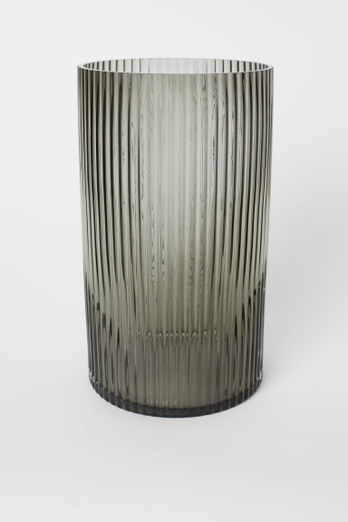 Large Glass Vase - Gray -  | H&M CA