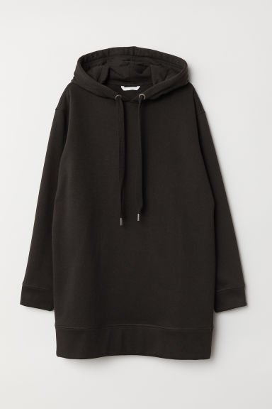 Oversized hooded top - Black - Ladies | H&M