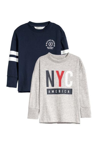 reducere nou ridicat intreaga colectie Bluze de jerseu, 2 bucăți - Gri-melanj/albastru - COPII | H&M RO