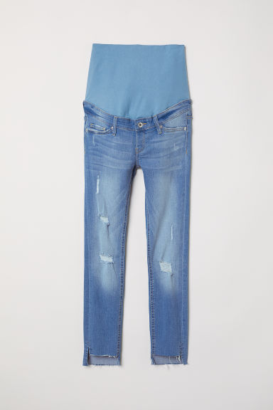 MAMA Skinny Ankle Jeans - Licht denimblauw/trashed - DAMES | H&M BE