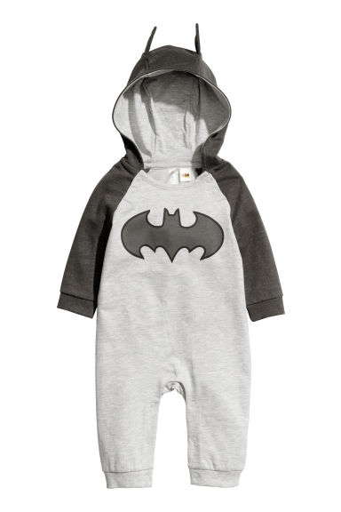 Sweatshirt all-in-one suit - Grey/Batman - Kids | H&M