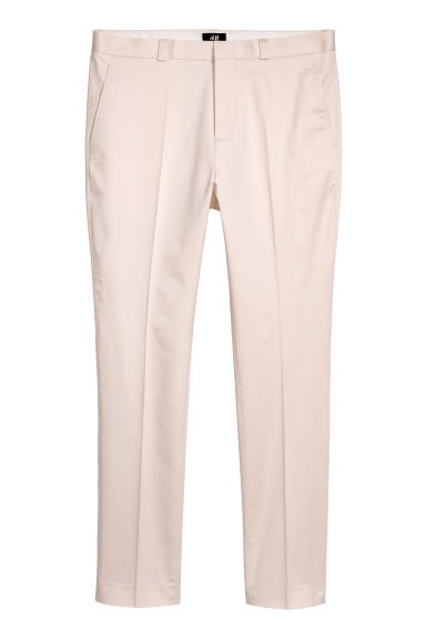 Cotton chinos Skinny fit - Natural white - Men | H&M