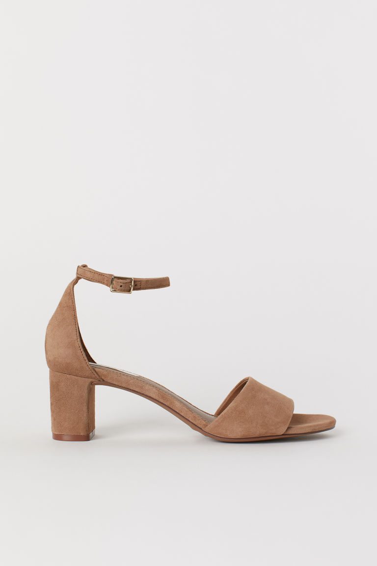 Suede Sandals - Dark beige - Ladies | H&M US
