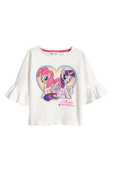 Top en jersey avec impression - Blanc/My Little Pony - ENFANT | H&M CH