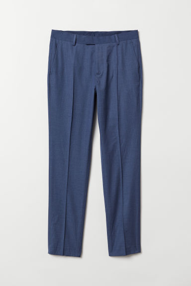 Suit trousers Slim fit - Dark blue - Men | H&M