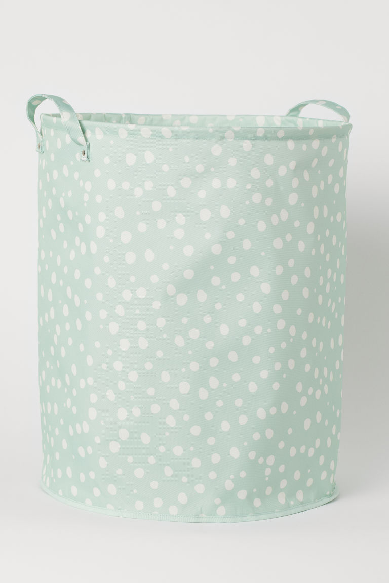 Large Storage Basket - Light green/dotted - Home All | H&M CA