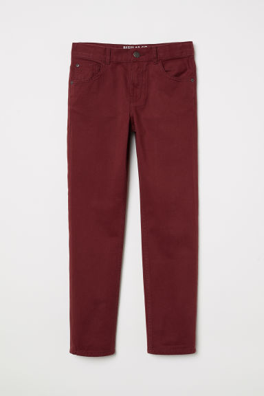 Twill trousers - Dark red - Kids | H&M