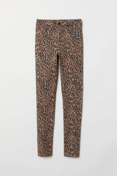 Super Skinny High Jeggings - Beige/Estampado de leopardo -  | H&M ES