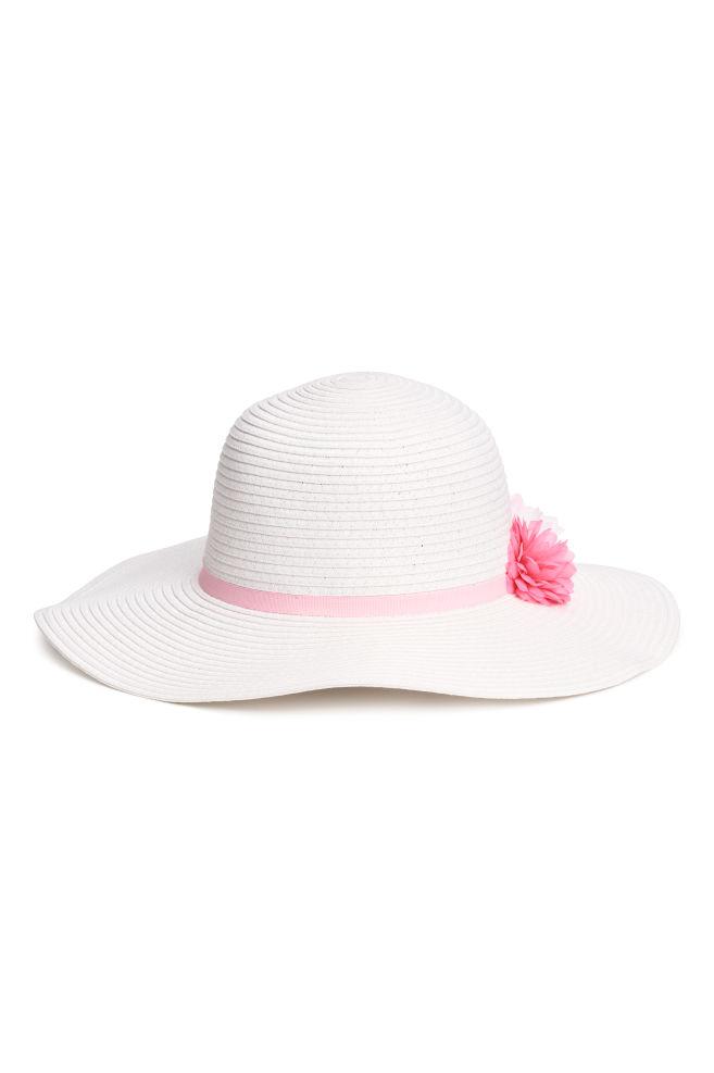 Cappello in paglia glitter - Bianco rosa - BAMBINO  992f08ffadca