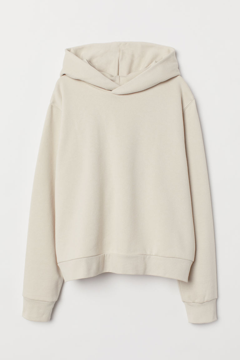 Hooded top - Light beige -  | H&M