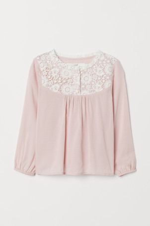 Viscose blouse with lace