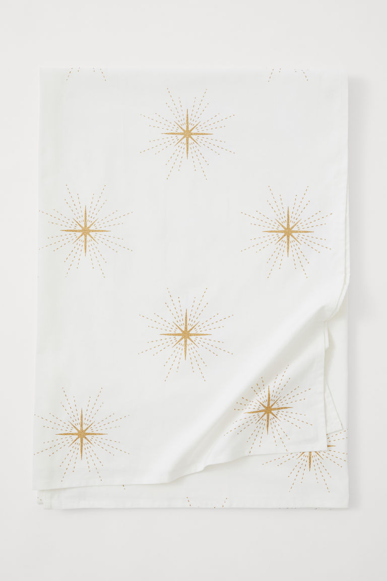 Patterned tablecloth - White/Stars - Home All | H&M GB