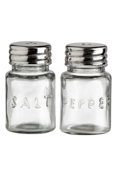 Glass salt and pepper set - Clear glass - Home All | H&M IE