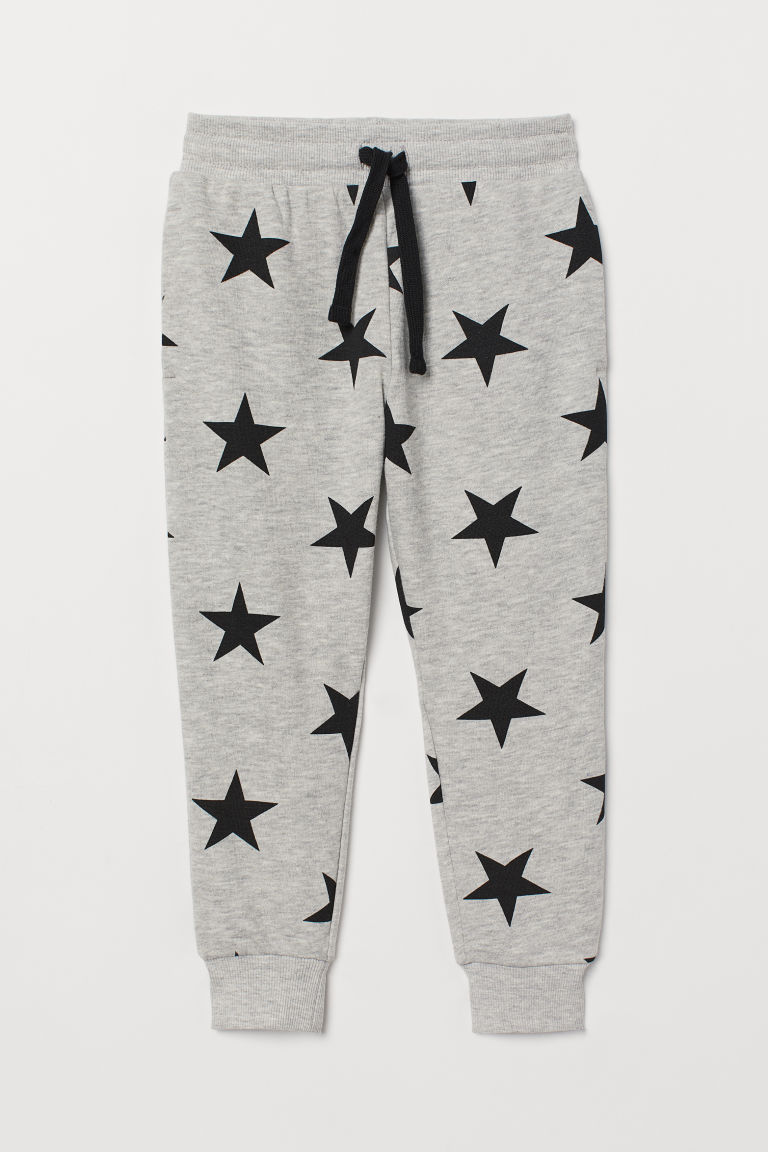 Joggers - Light grey marl/Stars - Kids | H&M GB