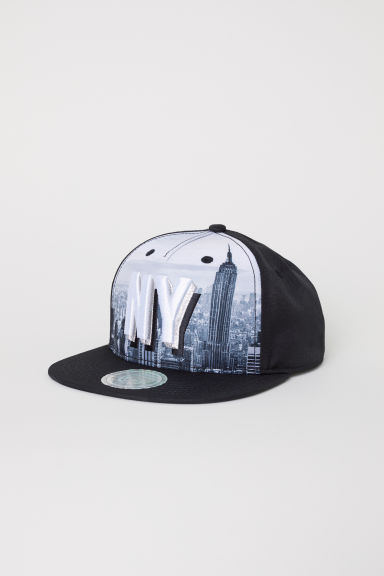 Cap with an appliqué - Black/NY - Kids | H&M CN